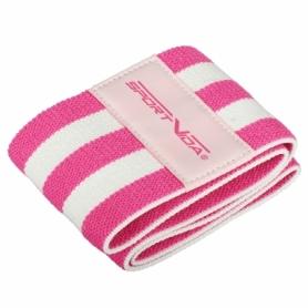 Резинка для фитнеса тканевая SportVida Hip Band розовая, S (SV-HK0254) - Фото №6