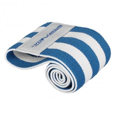 Резинка для фитнеса тканевая SportVida Hip Band синяя, М (SV-HK0255)