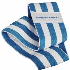 Резинка для фитнеса тканевая SportVida Hip Band синяя, М (SV-HK0255) - Фото №6