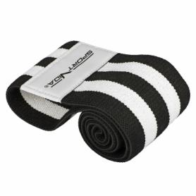 Резинка для фитнеса тканевая SportVida Hip Band черная, L (SV-HK0256)