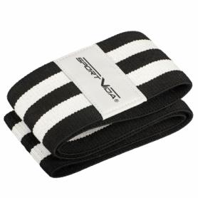 Резинка для фитнеса тканевая SportVida Hip Band черная, L (SV-HK0256) - Фото №6