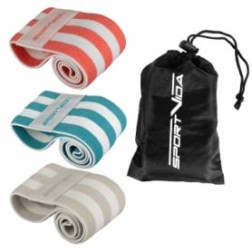 Набор резинок для фитнеса тканевые SportVida Hip Band (SV-HK0363)