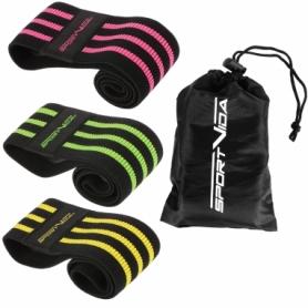 Набор резинок для фитнеса тканевые SportVida Hip Band (SV-HK0365)