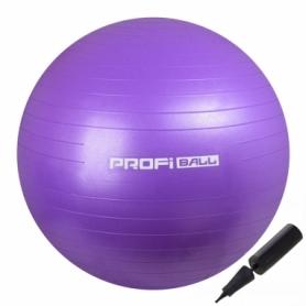 Мяч для фитнеса (фитбол) Profi фиолетовый, 55 см (M-0275-1)