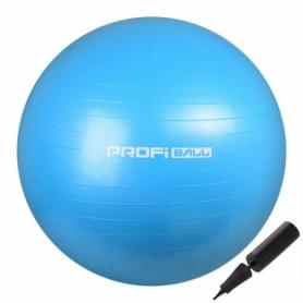Мяч для фитнеса (фитбол) Profi голубой, 55 см (M-0275-2)