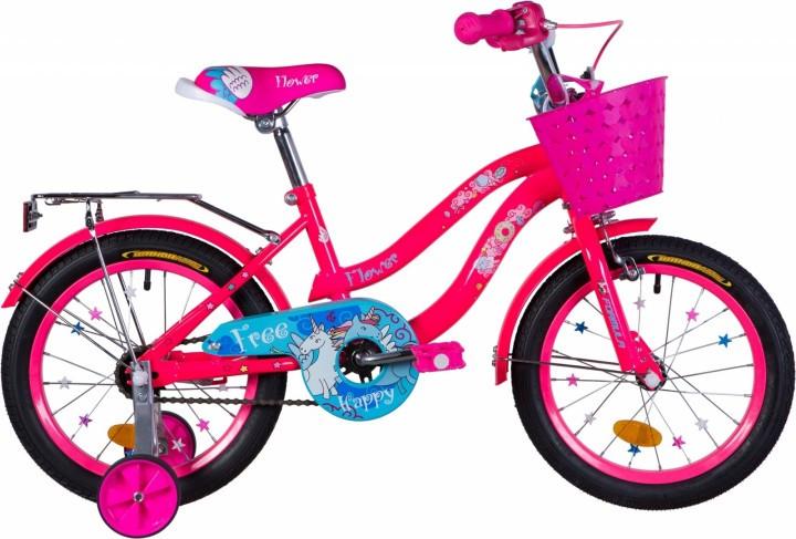 """Велосипед детский Formula Flower 2021 16 розовый, рама - 9"""" (OPS-FRK-16-141)"""