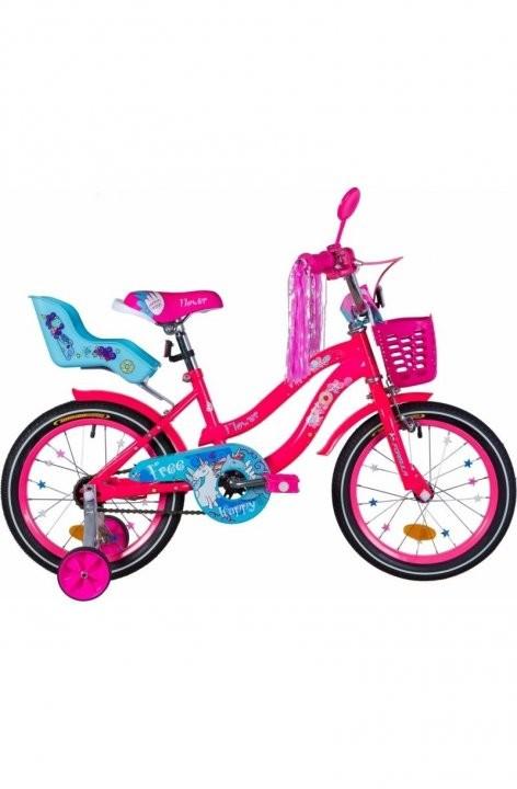 """Велосипед детский Formula Flower Premium 2021 16 розовый, рама - 9"""" (OPS-FRK-16-146)"""