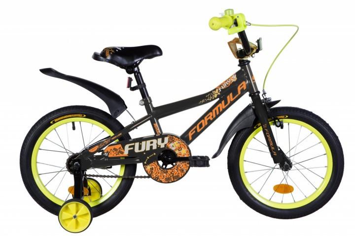 """Велосипед детский Formula Fury 2021 16 оранжевый, рама - 9"""" (OPS-FRK-16-152)"""