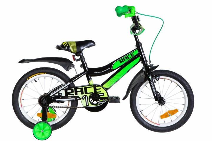 """Велосипед детский Formula Race 2021 16 черный, рама - 9"""" (OPS-FRK-16-135)"""