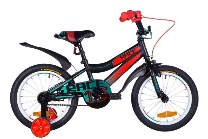 """Велосипед детский Formula Race 2021 16 черный, рама - 9"""" (OPS-FRK-16-138)"""