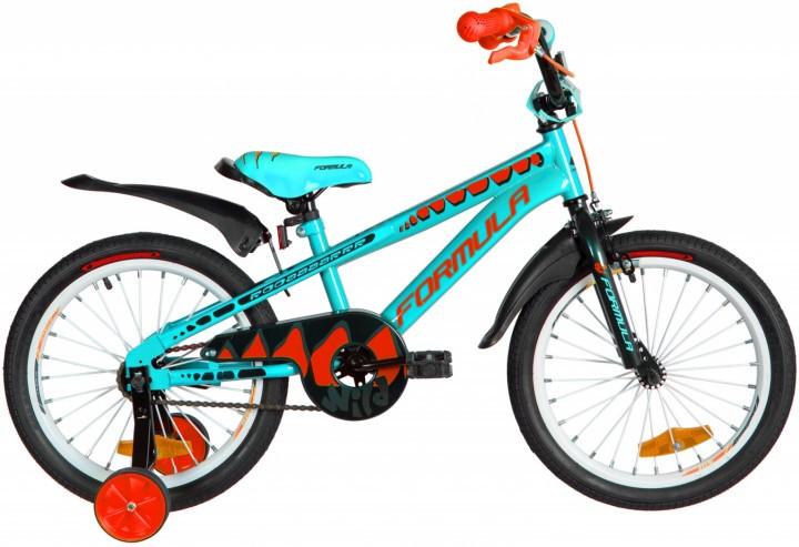 """Велосипед детский Formula Wild 2021 18 бирюзовый, рама - 9"""" (OPS-FRK-18-084)"""