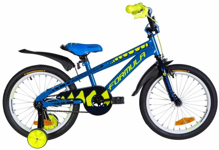 """Велосипед детский Formula Wild 2021 18 синий, рама - 9"""" (OPS-FRK-18-086)"""