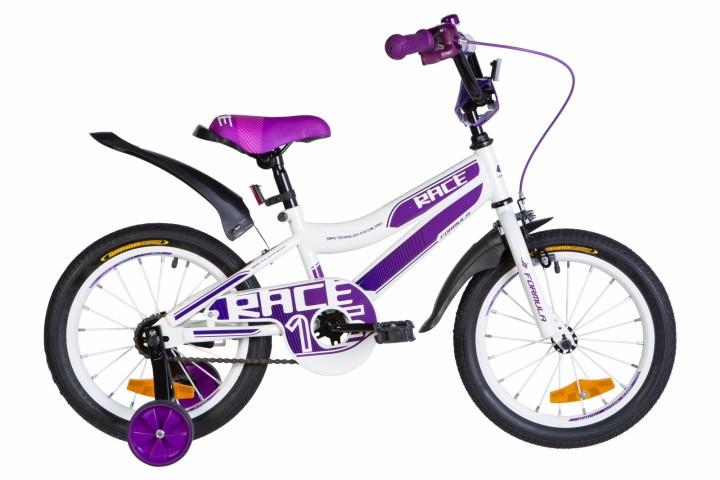 """Велосипед детский Formula Flower Premium 2021 16 фиолетовый, рама - 9"""" (OPS-FRK-16-150)"""