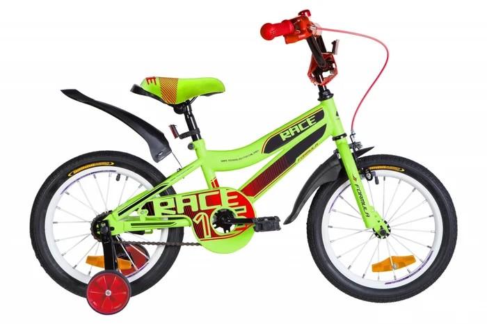 """Велосипед детский Formula Race 2021 16 зеленый, рама - 9"""" (OPS-FRK-16-137)"""