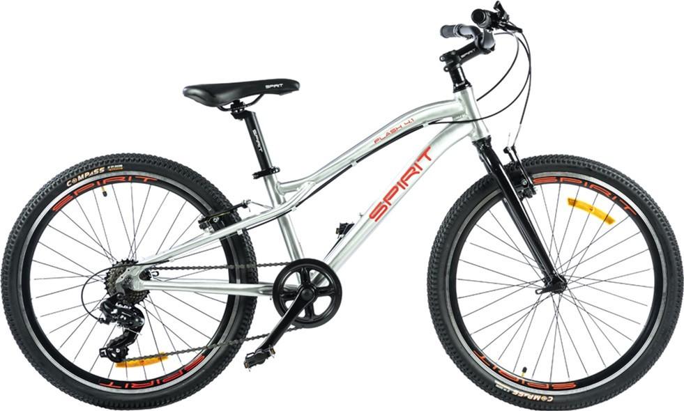 """Велосипед подростковый Spirit Flash 4.1 24 серый, рама - 13"""" (52024044130)"""