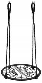 Качели-гнездо круглые Springos черные, 100 см (NS019)