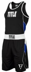 Форма боксерская подростковая Title Aerovent Elite Amateur Boxing синяя (FP-8669-1)