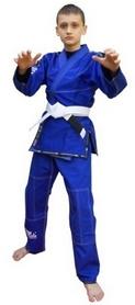 Кимоно детское для Бразильского Джиу Джитсу Bad Boy Limited Series синее (FP-7301-1)