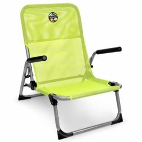 Кресло раскладное с подлокотниками Spokey Bahama зеленое (SL926795)