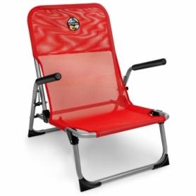 Кресло раскладное с подлокотниками Spokey Bahama красное (SL926796)