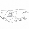Палатка четырехместная Easy Camp Blazar 400 красная (SN928905) - Фото №2