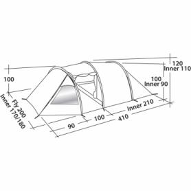 Палатка трехместная Easy Camp Spirit 300 зеленая (SN928904) - Фото №2