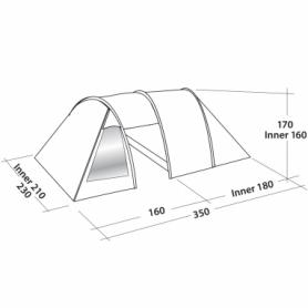 Палатка трехместная Easy Camp Galaxy 300 (SN928901) - Фото №2