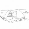 Палатка четырехместная Easy Camp Blazar 400 зеленая (SN928897) - Фото №2