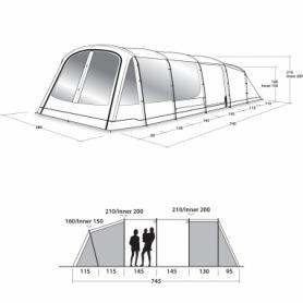 Палатка восьмиместная Outwell Winwood 8 (SN928827) - Фото №2