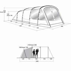 Палатка шестиместная Outwell Norwood 6 (SN928826) - Фото №2
