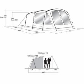 Палатка пятиместная Outwell Springwood 5 (SN928824) - Фото №2