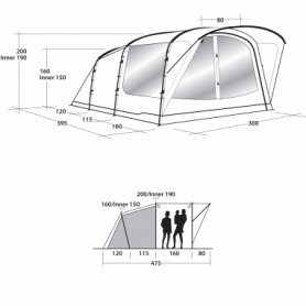 Палатка пятиместная Outwell Oakwood 5 (SN928822) - Фото №2