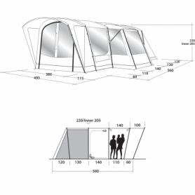 Палатка шестиместная Outwell Montana 6PE (SN928818) - Фото №2