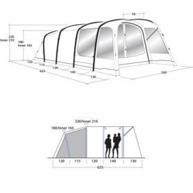 Палатка пятимесная Outwell Avondale 5Pа (SN928817) - Фото №2