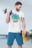 "Футболка мужская Newt с авторским принтом ""Йога"" (F-YOGA-M) - Фото №2"