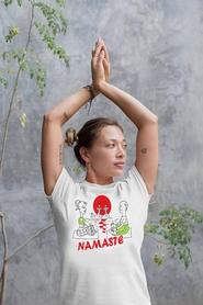 "Футболка женская Newt с авторским принтом ""Намасте"" (F-NAMASTE-W) - Фото №2"