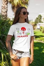 "Футболка женская Newt с авторским принтом ""Намасте"" (F-NAMASTE-W)"
