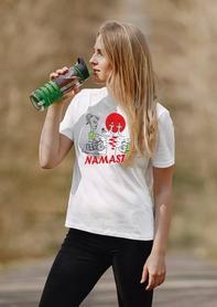 "Футболка женская Newt с авторским принтом ""Намасте"" (F-NAMASTE-W) - Фото №3"