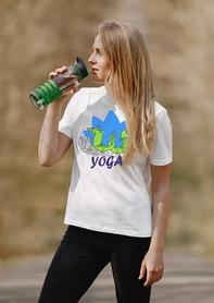 """Футболка женская Newt с авторским принтом """"Йога"""" (F-YOGA-W) - Фото №3"""
