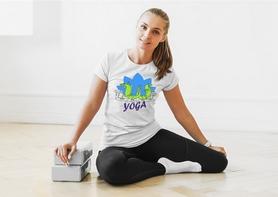 """Футболка женская Newt с авторским принтом """"Йога"""" (F-YOGA-W) - Фото №4"""