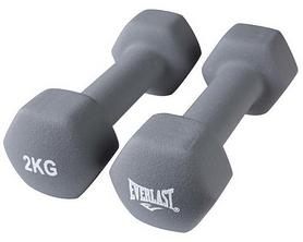 Гантели для фитнеса виниловые Everlast, 2 шт по 2 кг (80024/2)
