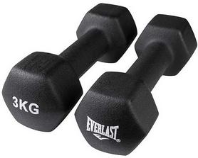 Гантели для фитнеса виниловые Everlast, 2 шт по 3 кг (80024/3)