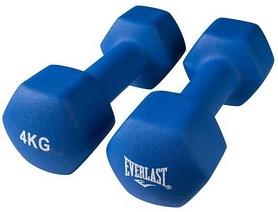 Гантели для фитнеса виниловые Everlast, 2 шт по 4 кг (80024/4)