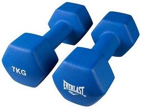 Гантели для фитнеса виниловые Everlast, 2 шт по 7 кг (80024/7)