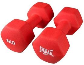 Гантели для фитнеса виниловые Everlast, 2 шт по 8 кг (80024/8)
