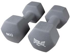 Гантели для фитнеса виниловые Everlast, 2 шт по 9 кг (80024/9)