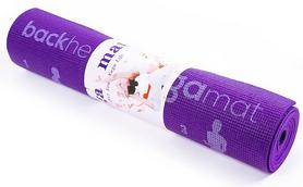 Коврик для фитнеса (йога-мат) Back Health фиолетовый, 173х61х0,6 см (5415-17V)