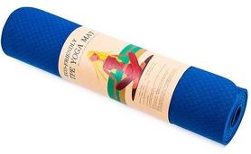 Коврик для фитнеса (йога-мат) Back Health синий, 183х61х0,6 см (5580-18B)