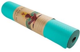 Коврик для фитнеса (йога-мат) Back Health голубой, 183х61х0,6 см (5415-2GB)