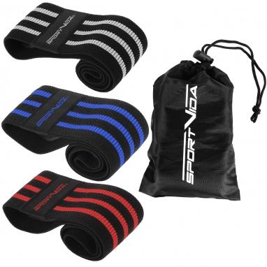 Набор резинок для фитнеса (эспандеры) SportVida Hip Band (SV-HK0366)